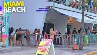 4K Miami Beach Walk South Beach Ocean Drive Sunset Walk Miami, FL