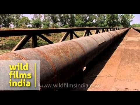 Huge water supply pipelines, India