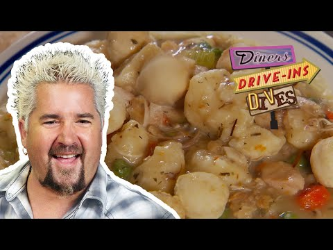 "Guy Fieri Eats Some ""Really Righteous"" Chicken and Dumplings (from #DDD) 
