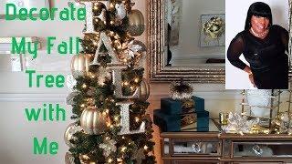 💎🍁🍂🏠Decorate With Me A Glam Fall Autumn Tree ideas de decoracio de otono