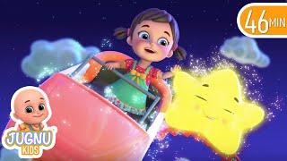 Twinkle Twinkle Little Star | Cartoon for kids | + Jugnu Kids nursery rhymes & baby songs