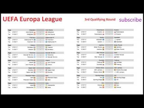 Uefa europa league schedule third qualifying round