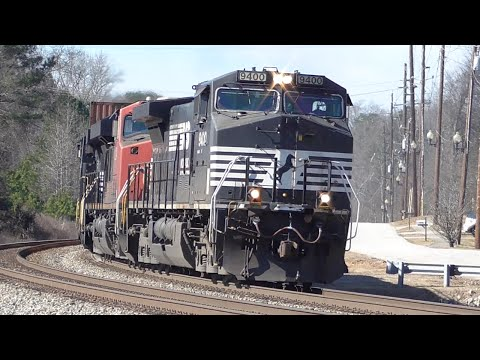 [1y] 30+ Trains in 12 Hours, Part 1/2, Railfanning Austell - Mableton GA, 01/30/2016 ©mbmars01
