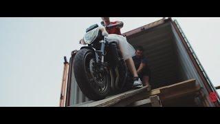 Прибытие новых мотоциклов из Японии. Разгрузка контейнера. Август 2016 Днепропетровск.