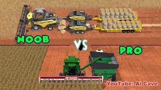 Unrealistic Noob VS. Realistic Pro Game-play - Farming Simulator 2017 Mods