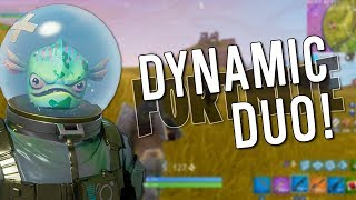 FORTNITE DYNAMIC DUO! Leviathan Best Skin? Fortnite Battle Royale avec/ Coup de tonnerre