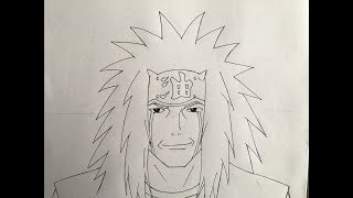 How to draw Jiraiya (Naruto)