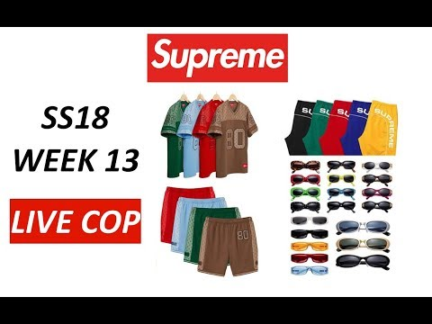 SUPREME SS18 WEEK 13 LIVE COP (MANUAL CHECKOUT)