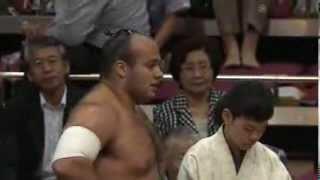 平成25年秋場所4日目 中に入ったのは里山! sumo 大相撲 取り直しoos...