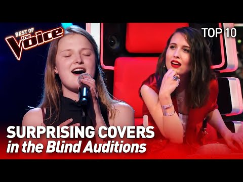 TOP 10 | Incredible SURPRISING COVERS in The Voice