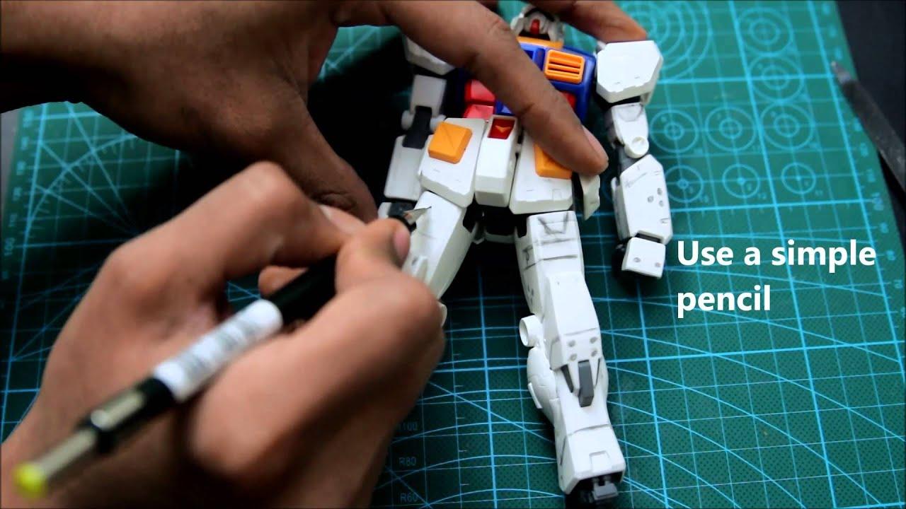Painting Gunpla Hands