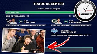 You Have 2 MINUTES to get the Best Trade for Deshaun Watson.. (Guess what Won?!)