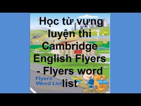 [Behoctienganhonline.com] - Từ vựng luyện thi Cambridge English Flyers - Flyers word list - phần 1