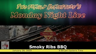 SMOKY RIBS BBQ - Joins us this evening.