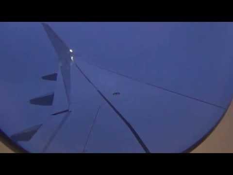 Lufthansa A320-200 Sharklets / Night Landing at Stormy Frankfurt Airport