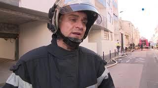 Un homme brûlé et 2 pompiers blessés dans l'incendie d'un parking privé à Bordeaux
