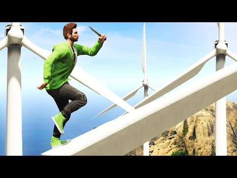 ULTIMATE WINDMILL CHALLENGE! (GTA 5 Funny Moments)