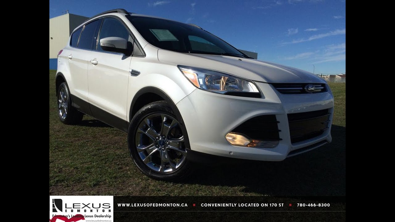 pre owned white 2013 ford escape 4wd sel in depth review st albert alberta youtube. Black Bedroom Furniture Sets. Home Design Ideas