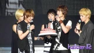 111120 SHINee - Happy Bday to Onew u0026 Minho@K-Friends Concert in Taiwan