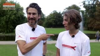Nikolaj Koppel og hans søn klar til Copenhagen Half Marathon
