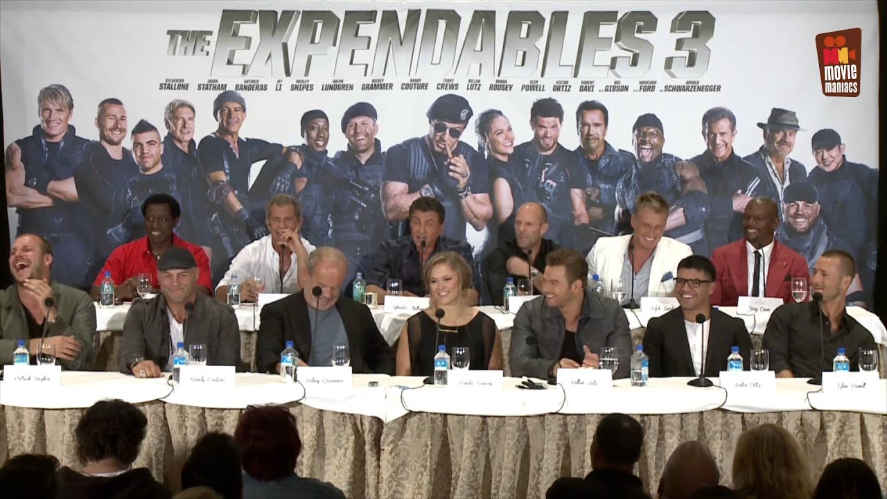 Expendables 3 | full press conference Mel Gibson Sylvester ...