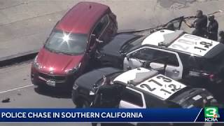 L.A Police are chasing a suspect in Southern California