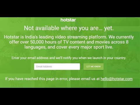 How to Download HOTSTAR app and watch video Outside INDIA | creative engineer (www.hotstar.com)