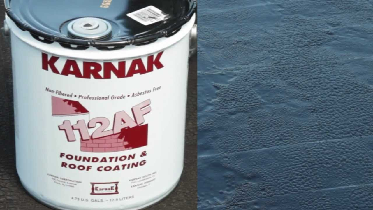 How To Apply Roof And Foundation Asphalt Coating Karnak