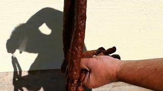 Harte Knacker - Salami mit Sauerkrautsaft gemacht.