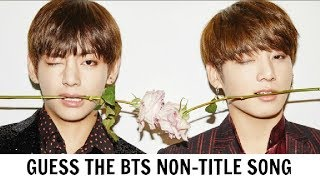 GUESS THE BTS NON-TITLE SONG by it's first 5 seconds