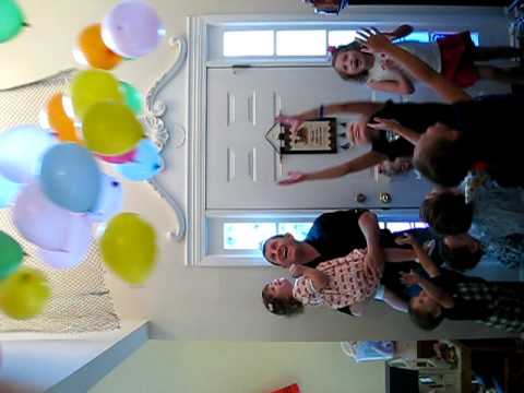 Balloon Drop Kates Birthday Party YouTube