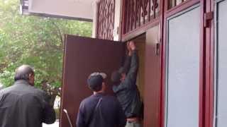 замена входной двери 1-го подъезда (как это было) 2