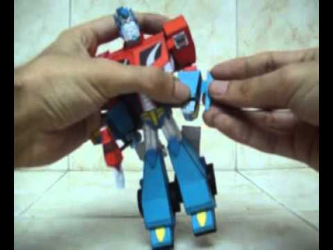 Papercraft AUTOBOT-LEADER-OPTIMUS-PRIME-TransformersAnimated-HECHO-EN-CARTULINA