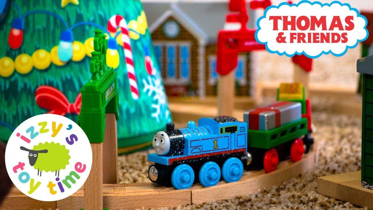 Thomas Christmas Train Set.Thomas And Friends Christmas In August Track Thomas Train With Brio Fun Toy Trains For Kids
