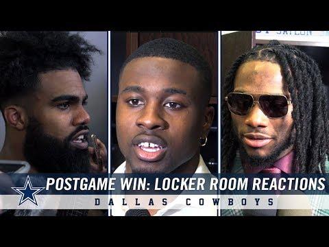 Post Game Win Against Philadelphia Eagles: Locker Room Reactions | Dallas Cowboys 2018