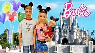 Barbie & Ken Family Travel Morning Routine to Disney Park - Baby First Disney Trip