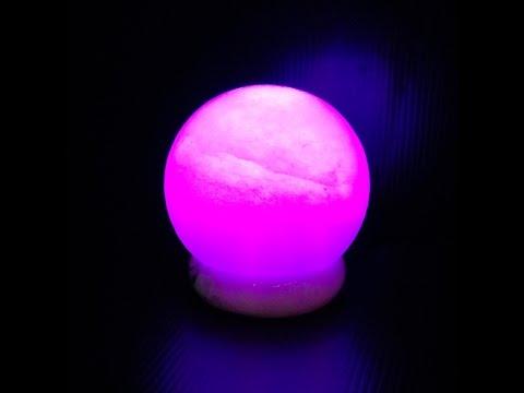 鹽燈專家-鹽晶王|療癒系商品‧頂級特殊白鹽大福彩變鹽燈(USB),搭配獨特多晶元之LED變化上百種顏色。