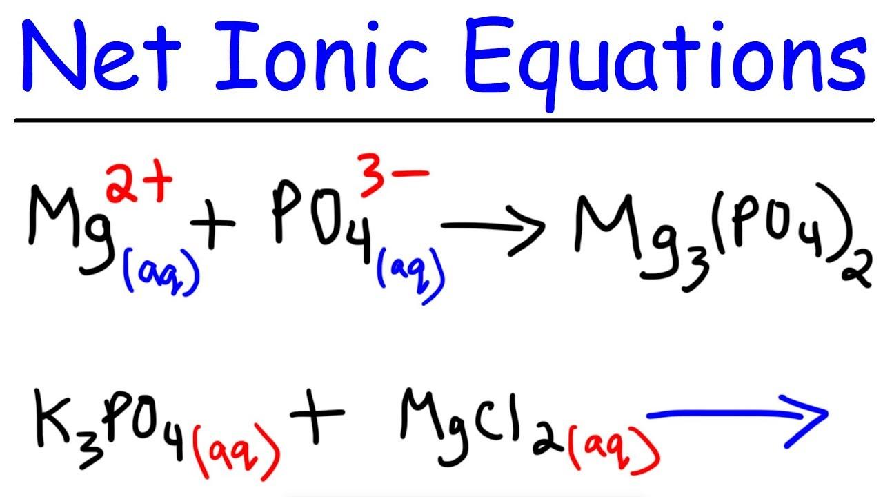 Precipitation Reactions & Net Ionic Equations - Chemistry