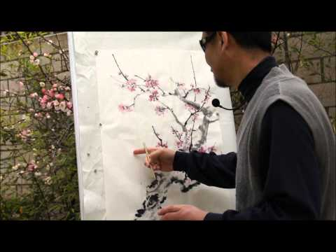 Plum Blossom: an Expressive Plein Air Painting Tutorial(HD) with Henry Li (2/2)