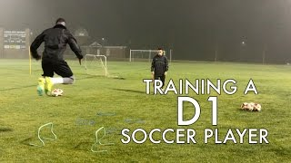 how do d1 soccer players train individual session and drills