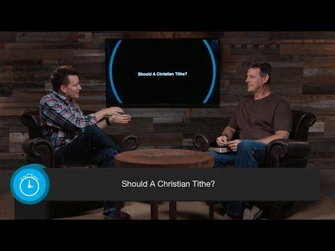 Should A Christian Tithe?