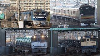 2019年 1月15日 府中本町駅付近にて 貨物列車と試運転E233系