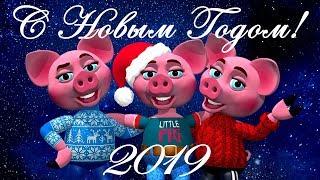 С Новым Годом Свиньи! Прикольные Поздравления С Новым Годом 2019. Год Свиньи 2019 Стихи. Свинья 2019
