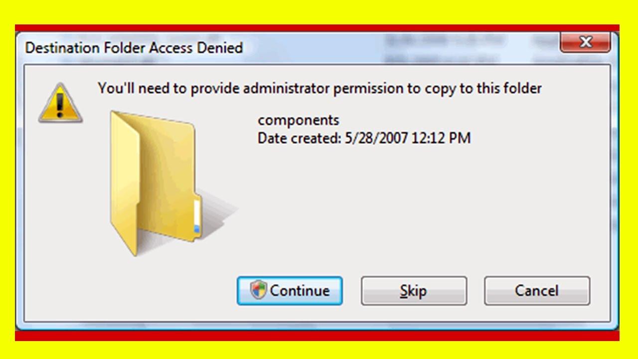 how to fix folder access denied