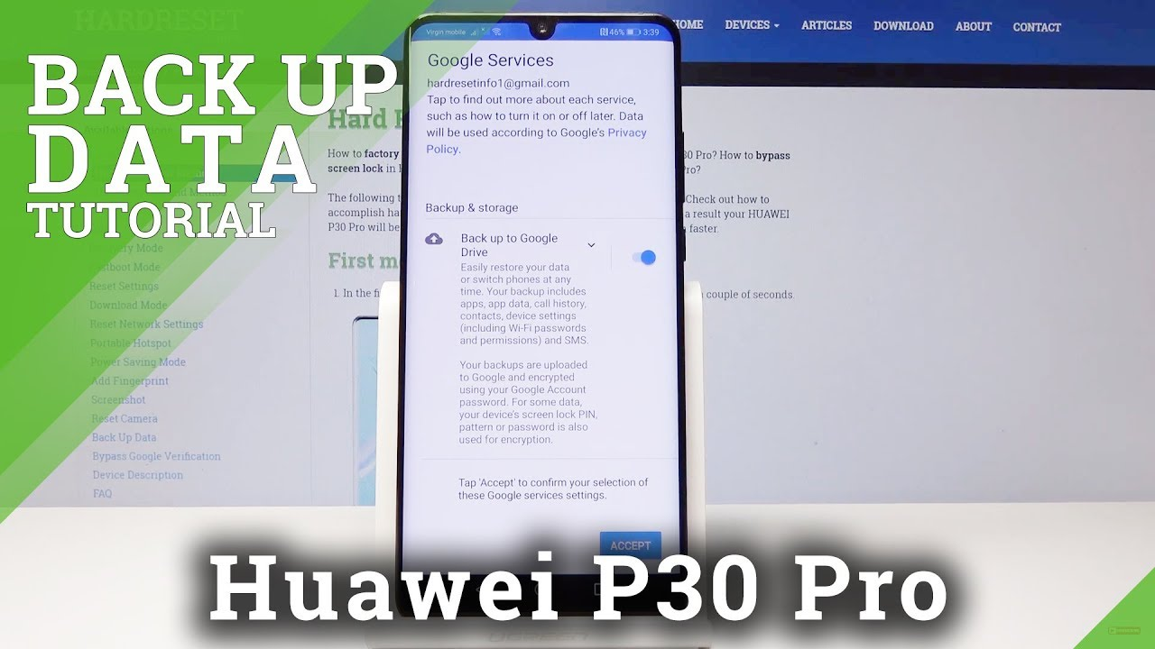 How to Enable Google Backup in HUAWEI P30 Pro - Add Google Account