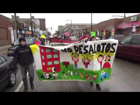 Displacement Tour of Albany Park & March Against Silver