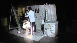 on the body, performance art by Anupam Saikia
