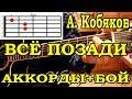 А Кобяков Все позади АККОРДЫ ПОДРОБНЫЙ РАЗБОР mp3
