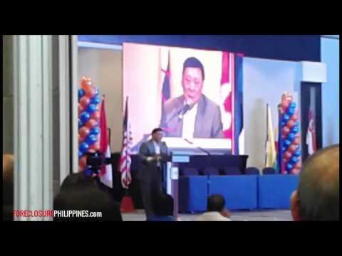 Видео: Hon. Eduardo G. Ong speech at iRise 2015 about real estate brokers exam