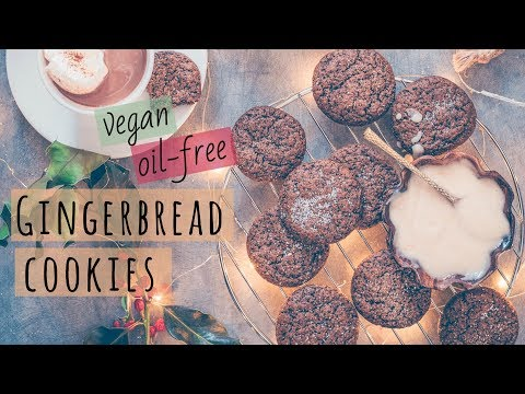 SOFT, CHEWY GINGERBREAD COOKIES | Vegan and Oil-Free